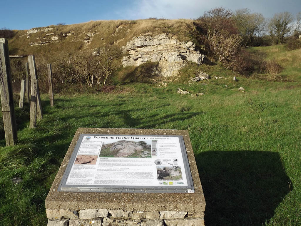 1 Portesham quarry face following conservation in Octoberr